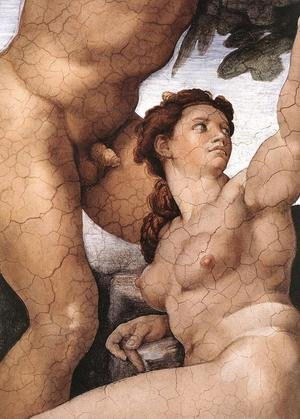 Reproduction oil paintings - Michelangelo - The Fall and Expulsion from Garden of Eden (detail-4) 1509-10
