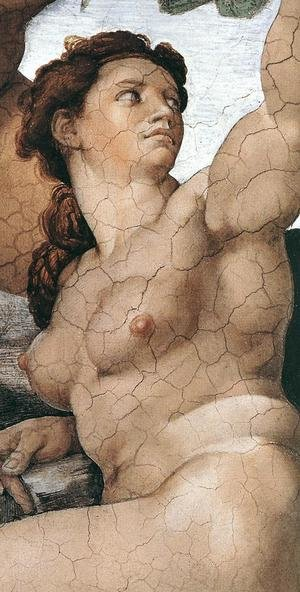 Reproduction oil paintings - Michelangelo - The Fall and Expulsion from Garden of Eden (detail-5) 1509-10
