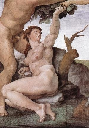 Reproduction oil paintings - Michelangelo - The Fall and Expulsion from Garden of Eden (detail-6) 1509-10