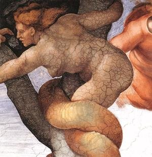 Reproduction oil paintings - Michelangelo - The Fall and Expulsion from Garden of Eden (detail-7) 1509-10