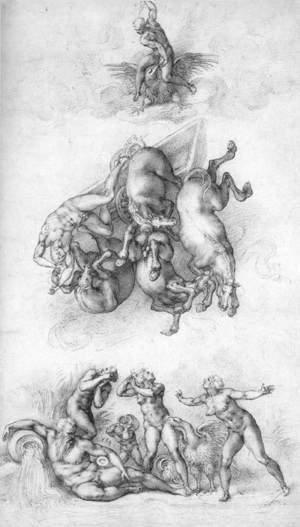 Reproduction oil paintings - Michelangelo - The Fall of Phaeton c. 1533
