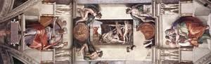Reproduction oil paintings - Michelangelo - The first bay of the ceiling 1508-12