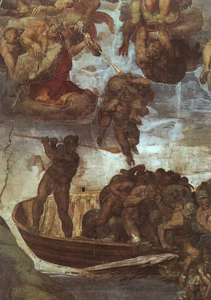 Reproduction oil paintings - Michelangelo - Last Judgement, detail of the Boatman Charon  1536-41
