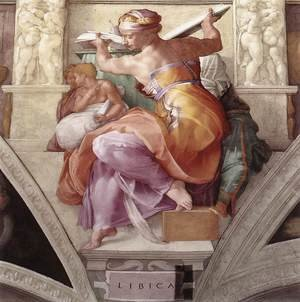 Reproduction oil paintings - Michelangelo - The Libyan Sibyl 1511