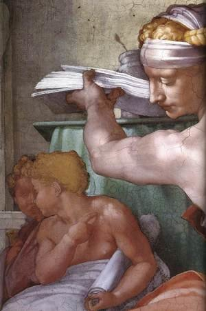 Reproduction oil paintings - Michelangelo - The Libyan Sibyl (detail) 1511