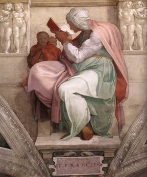 Reproduction oil paintings - Michelangelo - The Persian Sibyl 1511