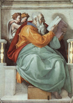 Reproduction oil paintings - Michelangelo - The Prophet Zachariah  1508-12
