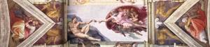 Reproduction oil paintings - Michelangelo - The second bay of the ceiling 1508-12