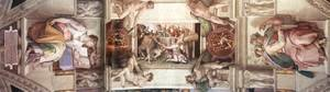 Reproduction oil paintings - Michelangelo - The seventh bay of the ceiling 1508-12