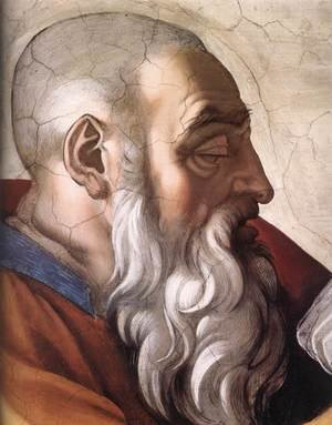 Reproduction oil paintings - Michelangelo - Zechariah (detail-1) 1509