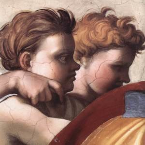 Reproduction oil paintings - Michelangelo - Zechariah (detail-2) 1509