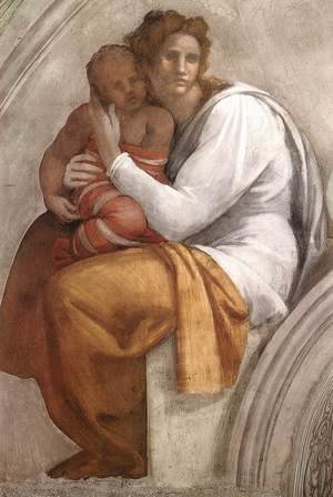 Reproduction oil paintings - Michelangelo - Zerubbabel - Abiud - Eliakim (detail-1) 1511-12
