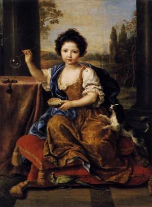 Girl Blowing Soap Bubbles 1674