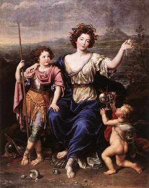 The Marquise de Seignelay and Two of her Children 1691