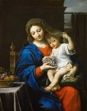 The Virgin of the Grapes 1640s
