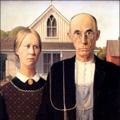 American Gothic Grant Wood Reproduction