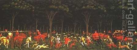 Hunt in the Forest by Paolo Uccello - Reproduction Oil Painting