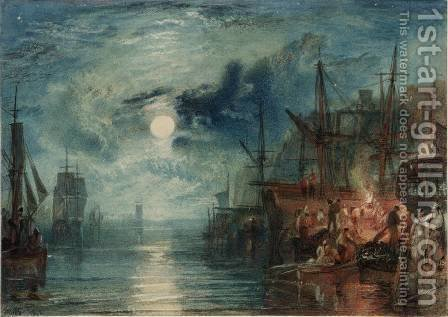 Turner: Shields, on the River Tyne - reproduction oil painting
