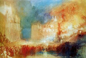 Reproduction oil paintings - Turner - Burning of the Houses of Parliament