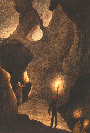 Famous paintings of Caves: Mosman's Cave, Wellington Valley, NSW No.3
