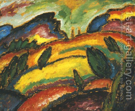 Hills (Hugel) by Alexei von Jawlensky - Reproduction Oil Painting