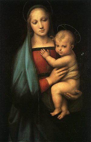 Famous paintings of Religion & Philosophy: Madonna & Child (Madonna del Granduca) 1505