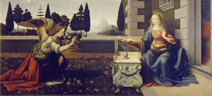 Reproduction oil paintings - Leonardo Da Vinci - Annunciation (Annunciazione)