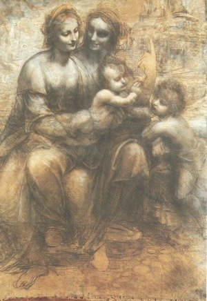 Reproduction oil paintings - Leonardo Da Vinci - Virgin and Child with St. Anne and the Infant of St. John (Sant'Anna, la Vergine, il Bambino e san Giovannino)