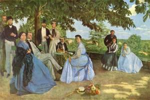 Reproduction oil paintings - Frederic Bazille - Family reunion, 1867