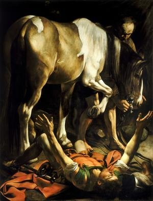 Famous paintings of Horses & Horse Riding: Conversion of St. Paul