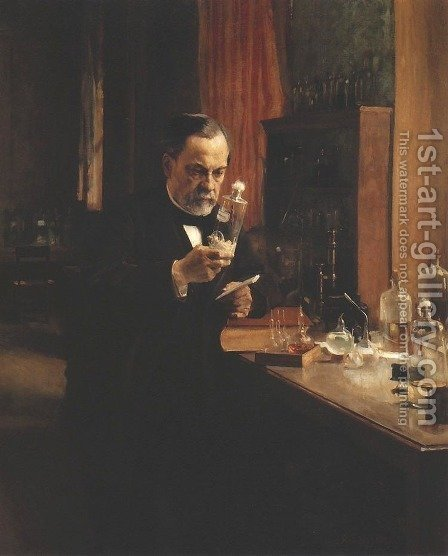 Louis Pasteur by Albert Edelfelt - Reproduction Oil Painting