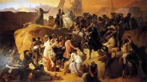 Francesco Paolo Hayez reproductions - Crusaders Thirsting near Jerusalem (La sete dei crociati sotto Gerusalemme)