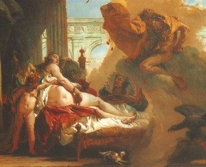 Reproduction oil paintings - Giovanni Battista Tiepolo - Jupiter Appearing to Danae (Giove appare to Danae)