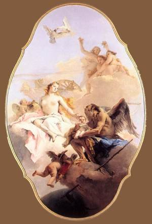 Reproduction oil paintings - Giovanni Battista Tiepolo - Allegory with Venus and Time