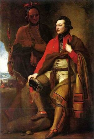 Reproduction oil paintings - Benjamin West - Portrait of Colonel Guy Johnson c. 1775