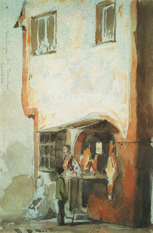 Reproduction oil paintings - James Abbott McNeill Whistler - Butcher's Shop, Saverne
