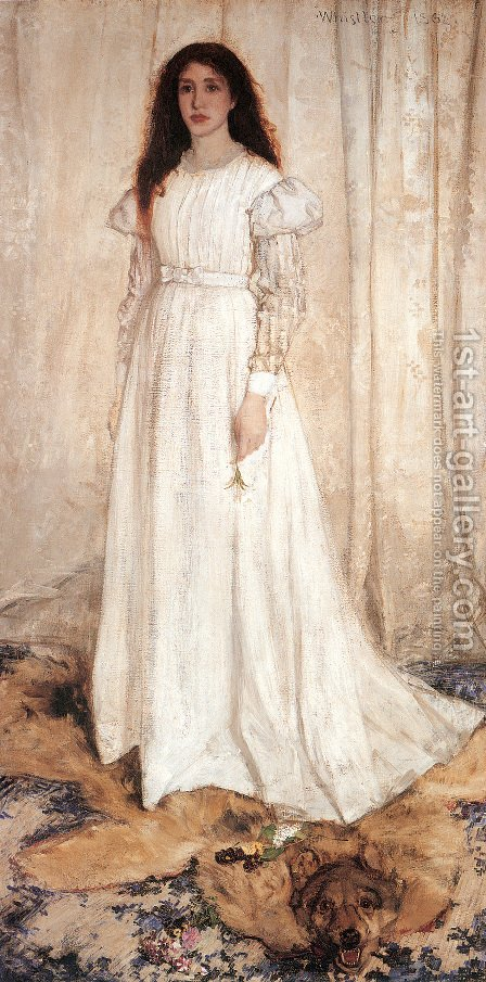 James Abbott McNeill Whistler: Symphony in White, Number 1- The White Girl, 1862 - reproduction oil painting