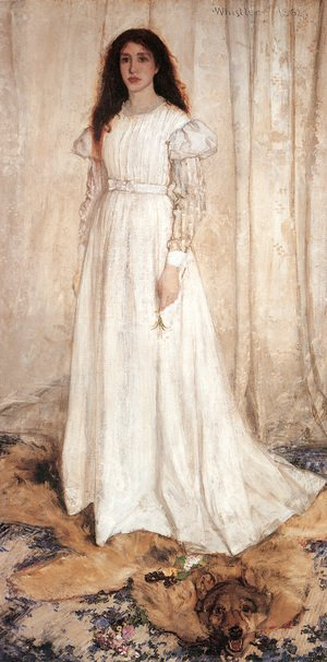Reproduction oil paintings - James Abbott McNeill Whistler - Symphony in White, Number 1- The White Girl, 1862