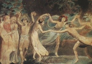 Famous paintings of Fairies: Oberon, Titania and Puck with Fairies Dancing