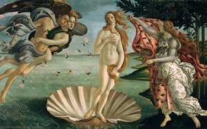 Famous paintings of Fantasy, Mythology, Sci-Fi: Birth of Venus (La Nascita di Venere)