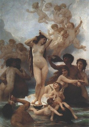 Famous paintings of Nymphs & Satyrs: Birth of Venus