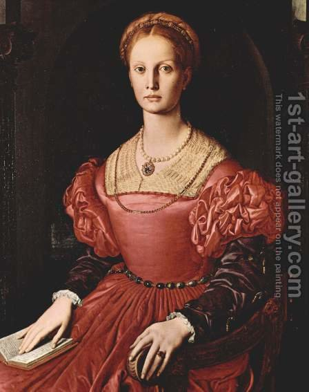 Lucrezia Panciatichi by Agnolo Bronzino - Reproduction Oil Painting