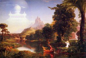 Reproduction oil paintings - Thomas Cole - Voyage of Life. Youth