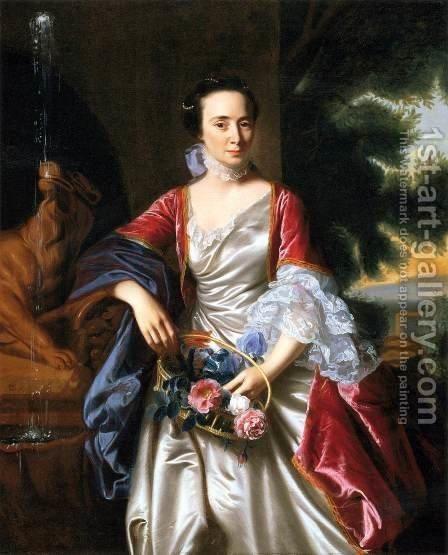 Portrait of Rebecca Boylston by John Singleton Copley - Reproduction Oil Painting
