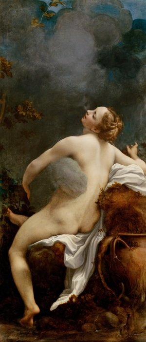 Famous paintings of Clouds & Skyscapes: Jupiter and Io (Giove e Io)