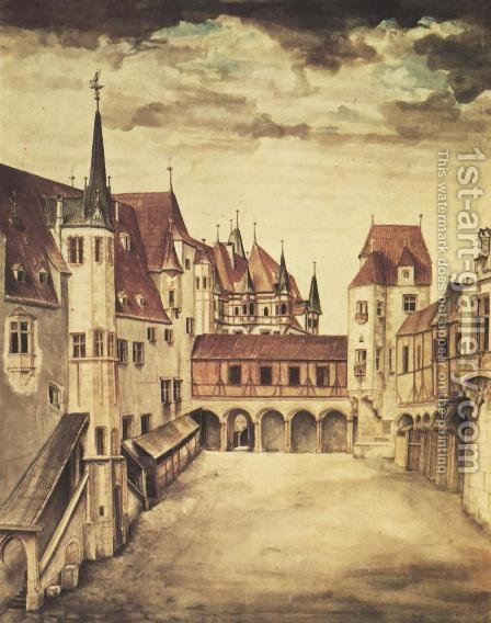 Castle Court (Innsbruck) by Albrecht Durer - Reproduction Oil Painting