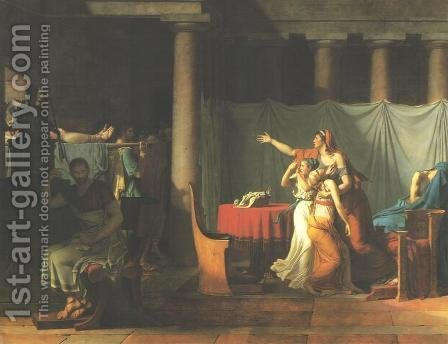 Lictors Bringing Brutus the Bodies of His Sons by Jacques Louis David - Reproduction Oil Painting