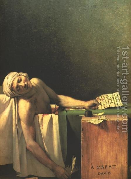 Death of Marat by Jacques Louis David - Reproduction Oil Painting