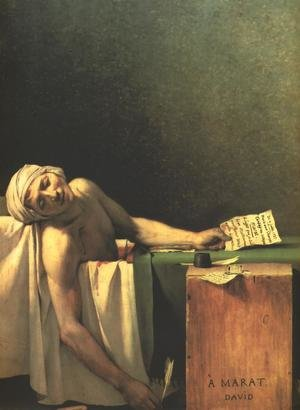 Reproduction oil paintings - Jacques Louis David - Death of Marat
