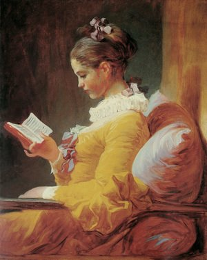 Reproduction oil paintings - Jean-Honore Fragonard - Young Girl Reading